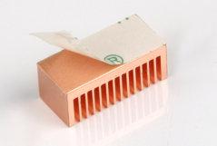 Комплект длинных медных радиаторов для RAM и BGA памяти  22мм  термоклей  8шт