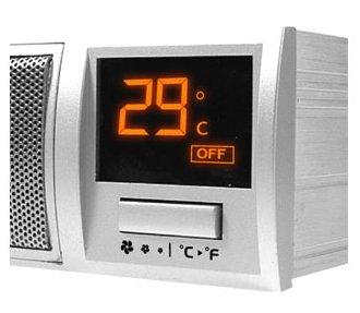 Устройство с LCD  для охлаждения жесткого диска для отсека 5    черного цвета