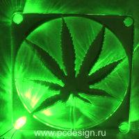 Светодиод 3 мм  зеленый   для установки в  специальную  решетку вентилятора