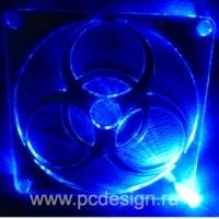 Светодиод 3 мм  синий   для установки в  специальную  решетку вентилятора