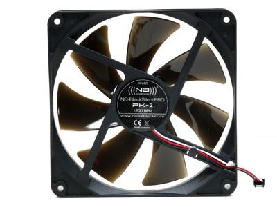 Тихий вентилятор 140мм NB BlackSilentPRO PK2 1200rpm 20 dBA черный