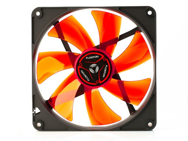 Вентилятор 140 мм с красными лопастями и антивибрацией Floston 140PM
