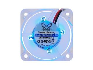 Вентилятор 40мм  Scythe Mini Kaze LED прозрачный с синей светод  подсветкой