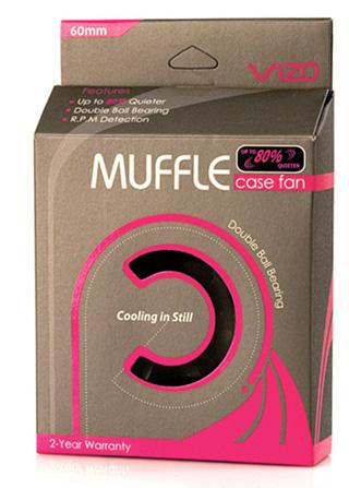 Вентилятор Vizo Muffle MF6025 60х60х25 черный  шарикопод