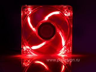 Вентилятор 80мм с красной подсветкой