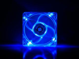 Вентилятор с подсветкой синей 80 мм GlacialStars  IceLight 8025 blue прозрач