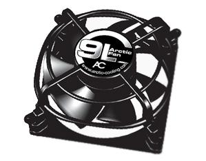 Вентилятор для корпуса Arctic Fan 9L 92 мм черный с решеткой