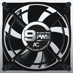 Вентилятор для корпуса Arctic Fan 9PWM  92 мм черный с решеткой