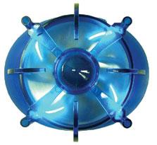 Космический вентилятор Centaurus с синими светодиодами  синее основание