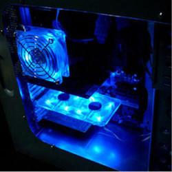 Spectrum Fan Card синяя  светится в ультрафиолете