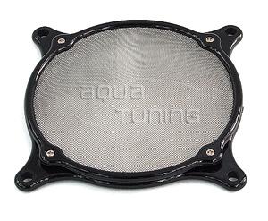 Фильтр с метал  сеткой и черной круглой рамой для вентилятора 80мм