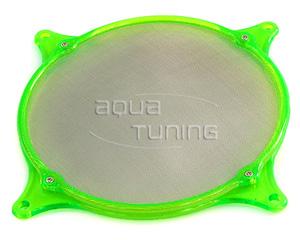 Фильтр с метал  сеткой и УФ зеленой рамой для вентилятора 120мм