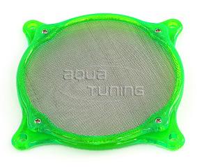 Фильтр с метал  сеткой и УФ зеленой рамой для вентилятора 80мм