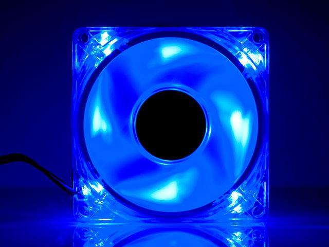 Вентилятор с подсветкой синей светодиодной Gembird