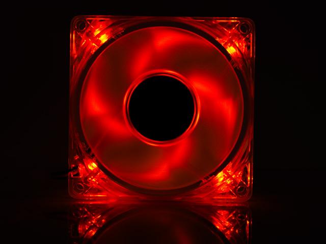 Вентилятор с подсветкой красной светодиодной Gembird
