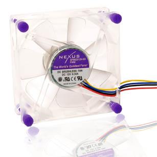 Вентилятор PWM 80 мм прозрачный Nexus SP802512H-03PWM