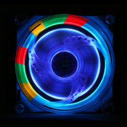 Вентилятор Rainbow со светоэффектами и прозрачной  объемной решеткой Hurricane