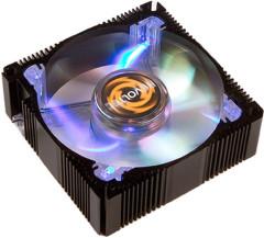 REVOLTEC алюминиевый вентилятор 80мм  с синей подсветкой