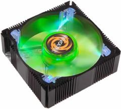 REVOLTEC алюминиевый вентилятор 80мм  с зеленой подсветкой