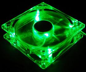 Вентилятор с подсветкой зеленой 140x140x25мм Yate Loon D14SL 12 79013 1000rpm