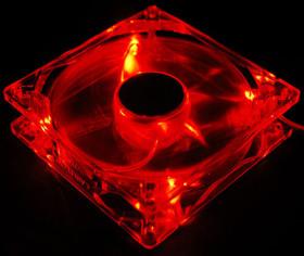 Вентилятор с подсветкой красной 92 мм Zalman ZM F2RL c антивибрац  винтами