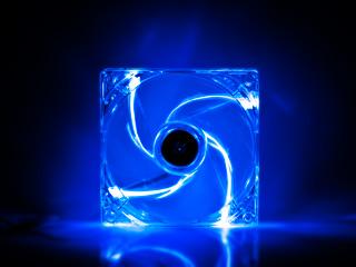 Вентилятор с подсветкой синей 120 мм GlacialStars  IceLight 12025 blue прозрач