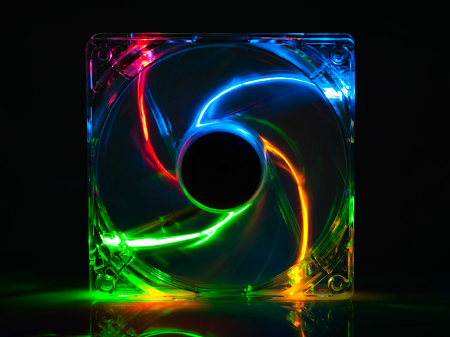 Вентилятор с подсветкой 4 цветной 120 мм 12025