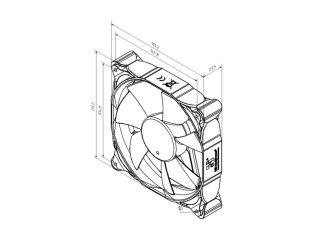 Вентилятор 120 мм Noiseblocker NB Multiframe M12 P PWM 12 29 dBA 1000 2000rpm