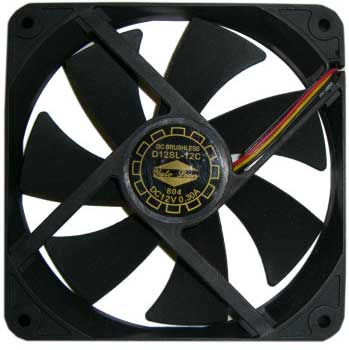 Вентилятор 120 х 120 х 20 мм Yate Loon D12SL-12C черный 78107
