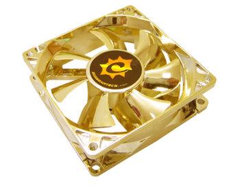 Вентилятор 80 мм с анодированным золотым покрытием