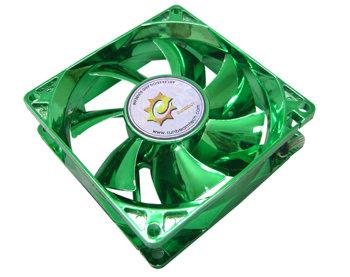 Вентилятор 80 мм с анодированным зеленым покрытием