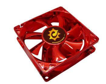 Вентилятор 80 мм с анодированным красным покрытием