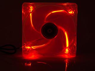 Вентилятор с подсветкой красной 140 мм Floston 140PML с антивибрацией