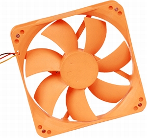 Тихий вентилятор 120 мм оранжевый Nexus BASIC D12SL-12 OR