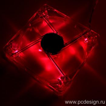 Вентилятор 120 мм с красной подсветкой