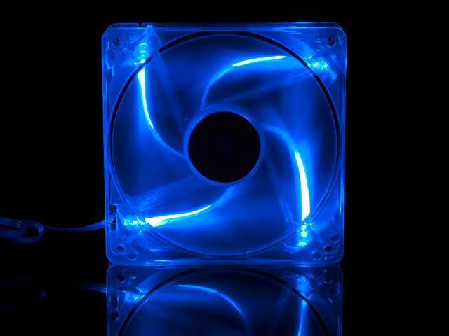 Флуоресцентный вентилятор 120 мм синий со светодиодами