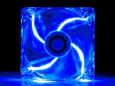 Вентилятор с подсветкой синей 120 мм XILENCE COO XPF120 TBL прозрач