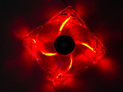 Вентилятор с подсветкой красной 120 мм XILENCE COO XPF120 TR прозрач