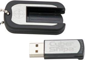 Флешка 1 ГБ CYBERSNIPA Dog Tags  армейский жетон  с набором инструм  и фонариком