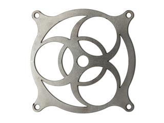 Биохазард   необработанная стальная решетка для 120 мм вентилятора  толщина 2 мм
