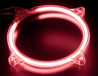 Неоновое кольцо розовое для установки на 80мм ый вентилятор