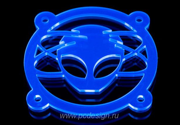 Xfiles    синяя флуоресцентная решетка светящаяся в ультрафиолете