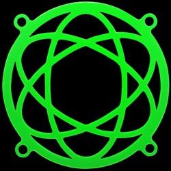 Атом     зеленая флуоресцентная решетка светящаяся в ультрафиолете
