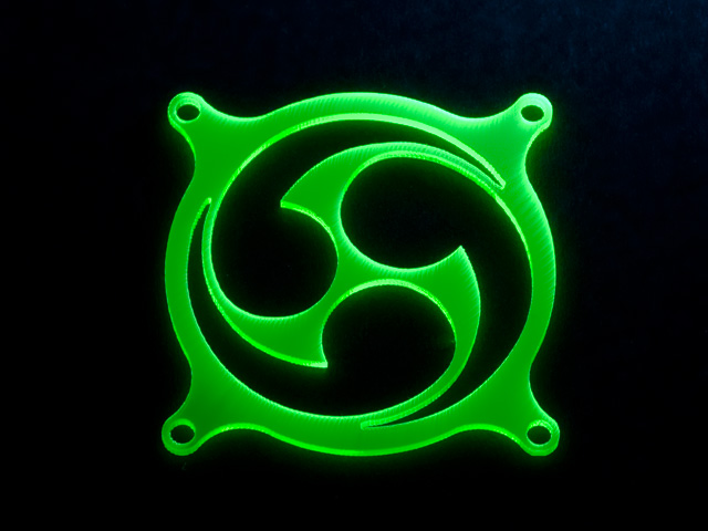 Hurricane     зеленая флуоресцентная решетка светящаяся в ультрафиолете