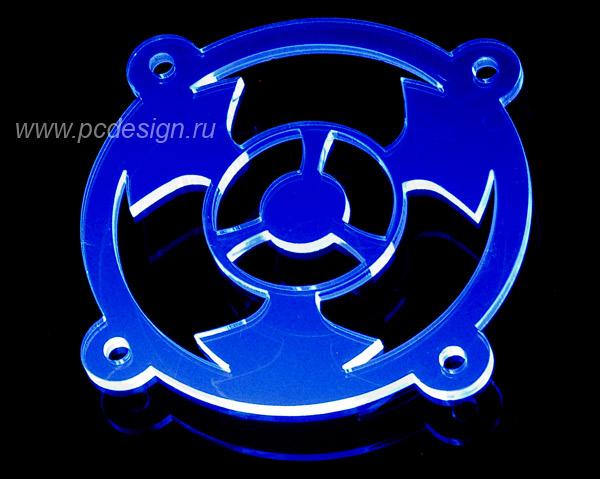 R U     синяя флуоресцентная решетка светящаяся в ультрафиолете