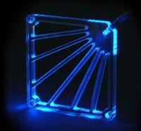 Прозрачная решетка для вентилятора с  синим светодиодом