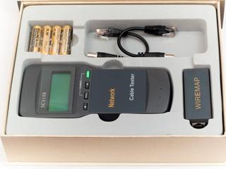 Тестер кабеля 5bites LY CT014 и его длины для UTP STP RJ45  BNC  RJ11 12