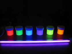 Набор флуоресцентных  красок  6 разных цветов
