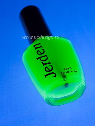 Светящийся лак для ногтей зеленый светящийся в темноте и в УФ 16мл