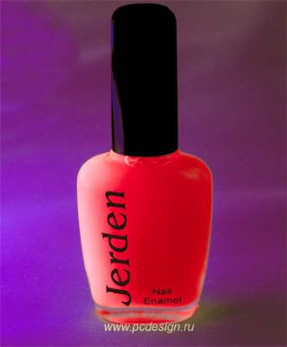 Светящийся лак для ногтей розовый светящийся в темноте и в УФ 16мл